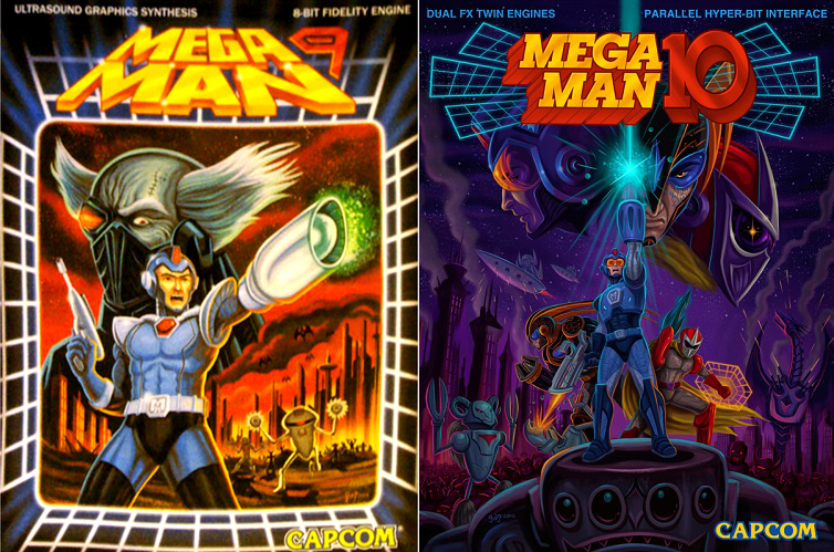 Car tulas de videojuegos actuales en los a os 80 ser an for Megaman 9 portada