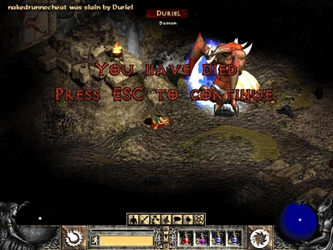 My rage is unquenchable. Even eventually killing this devil will not satiate my desire to obliterate it from existence, from ALL FUTURE DIABLO II GAMES!